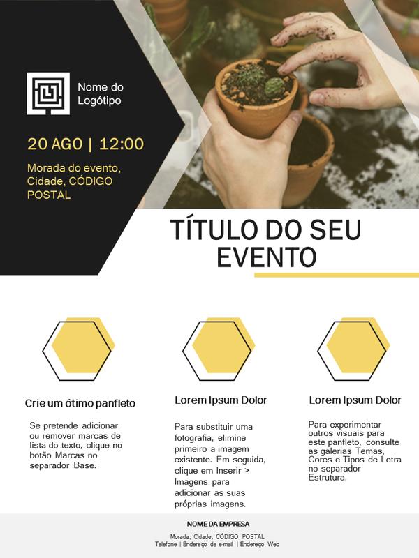 Panfleto empresarial pequeno (design dourado)