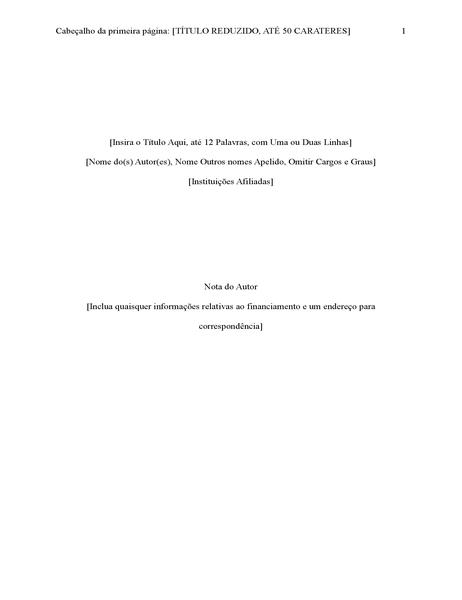 Relatório com Estilo APA (6ª edição)