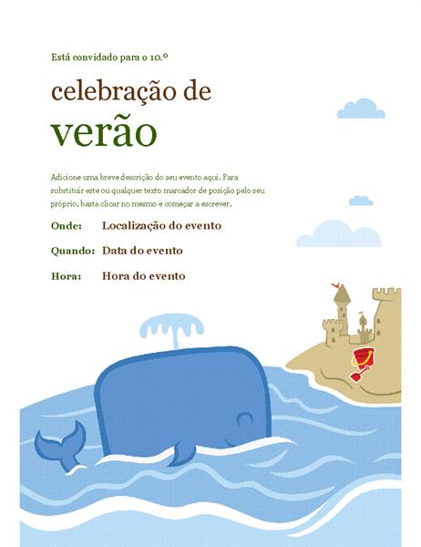 Panfleto de evento de verão