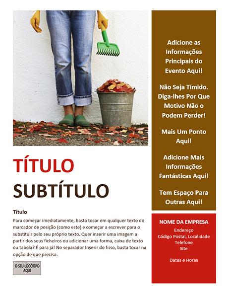 Panfleto de evento sazonal (outono)