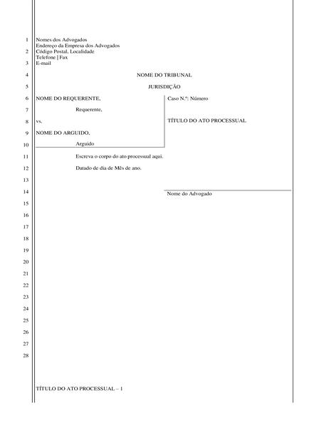 Documento de requerimento judicial (28 linhas)