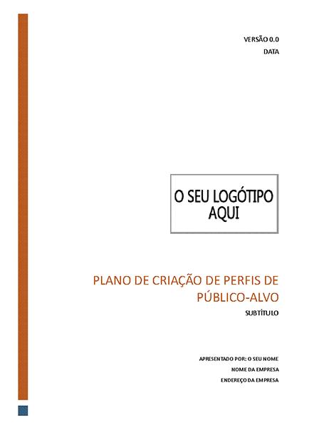 Plano de criação de perfis de público-alvo