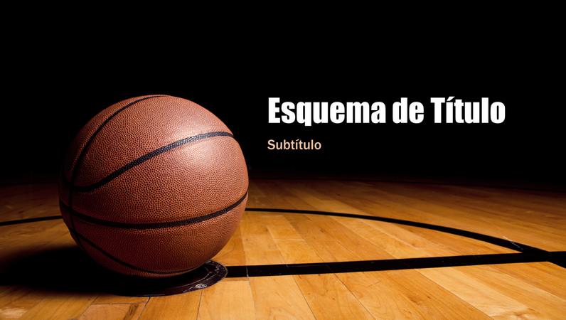 Apresentação de basquetebol (ecrã panorâmico)