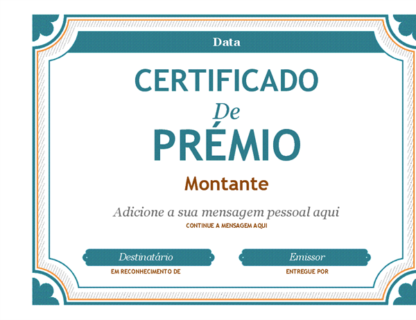 Prémio de certificado