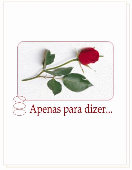 Cartão de romance