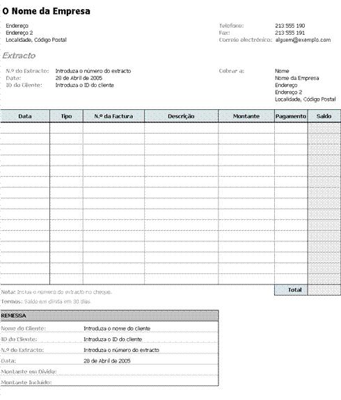 Nota de facturação
