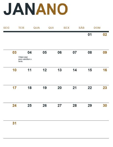 Calendário