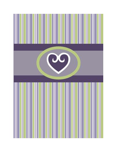 Cartão de amor (desenho em cor púrpura)
