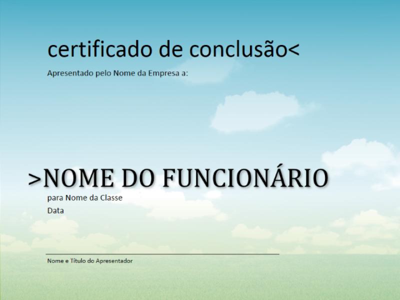 Certificado de conclusão de curso