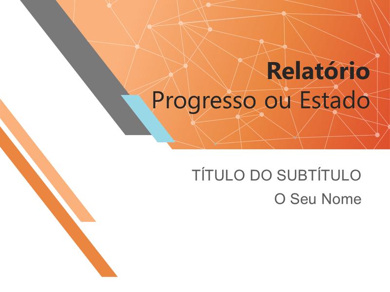 Apresentação da comunicação do progresso ou estado