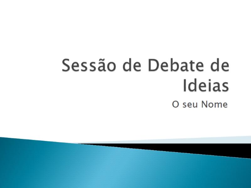 Apresentação sobre debates de ideias