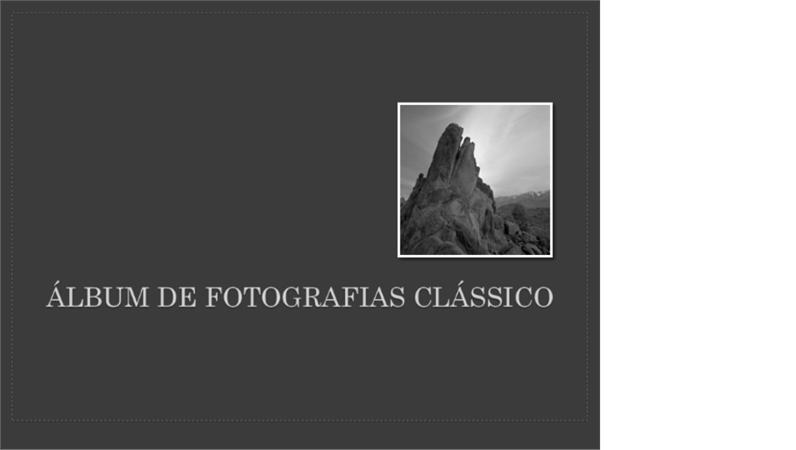 Álbum de fotografias clássico