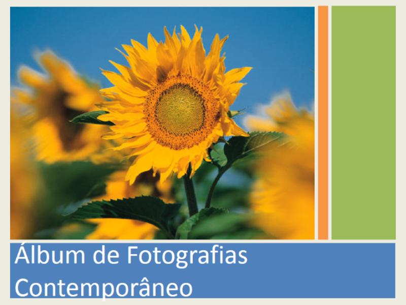 Álbum de fotografias contemporâneo