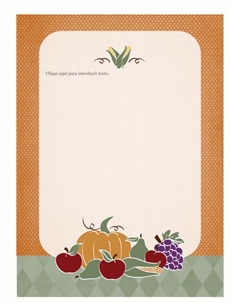 Papel de carta (desenho das colheitas)