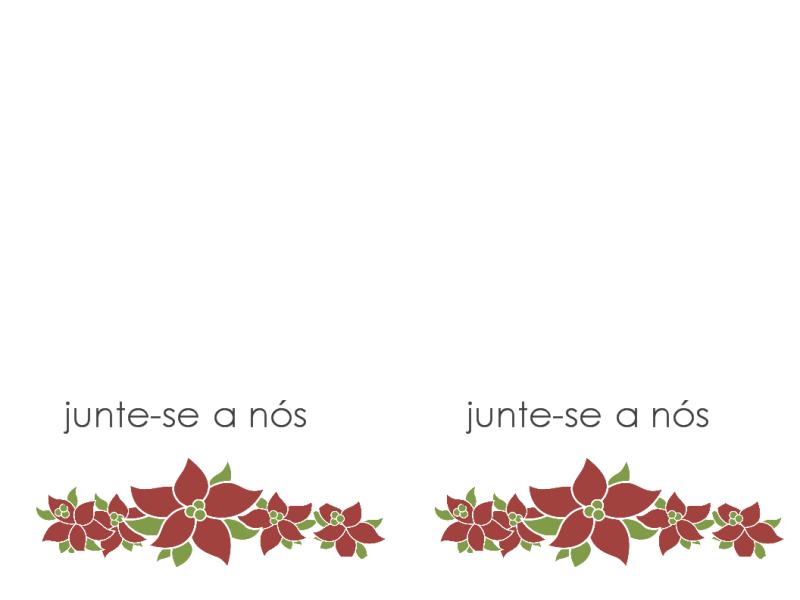 Convite para festa (desenho com flores de Natal)