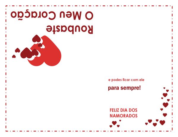 Cartão do Dia de São Valentim (desenho de coração)