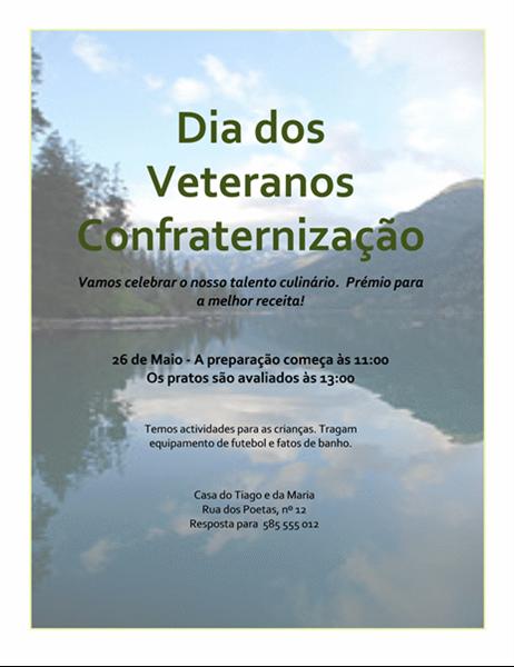 Panfleto do Dia dos Veteranos - Confraternização