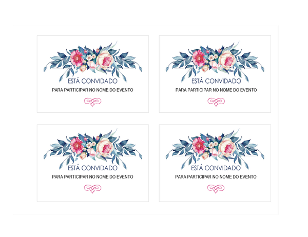 Convite para festa (desenho floral)