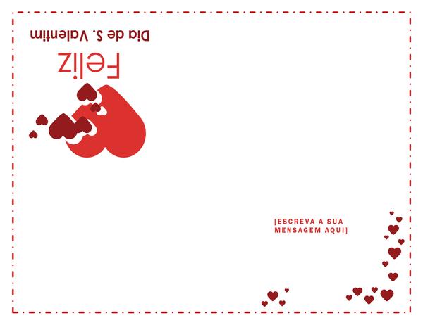 Cartão do Dia de São Valentim (interior em branco)