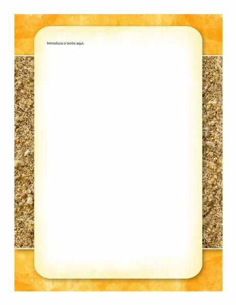 Papel de Carta (desenho com sol e areia)