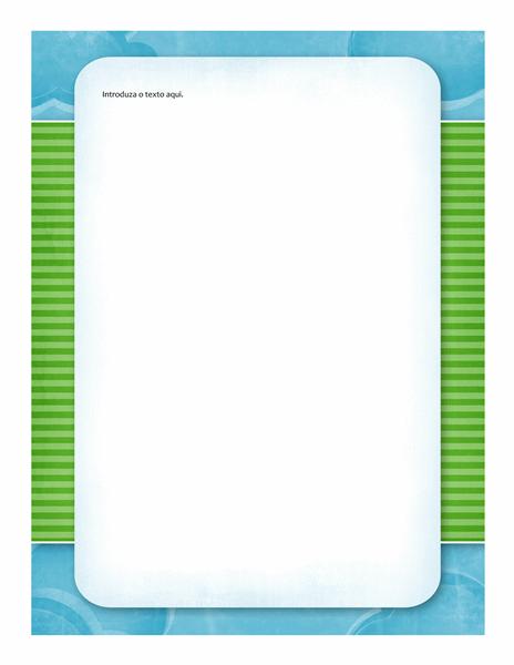 Papel de Carta (desenho com nuvens)