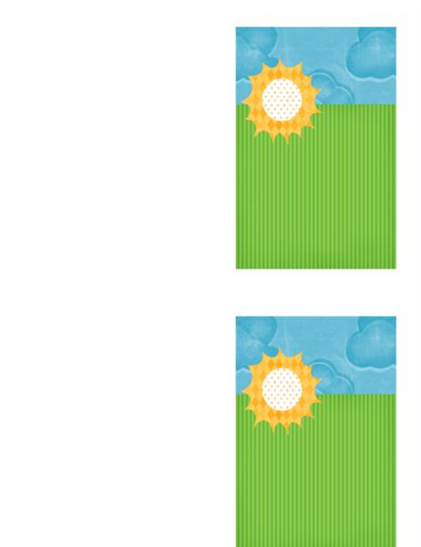 Cartão de agradecimento (desenho com nuvens)