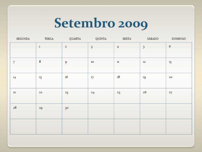 Calendário académico 2009-2010 (13 págs., Seg. - Dom.)