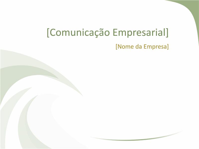 Diapositivos de design comercial (design Green Wave)