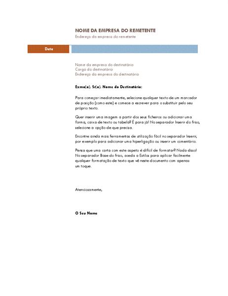 Carta empresarial (tema mediano)