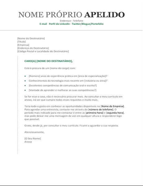 Carta de Apresentação (cronológica)