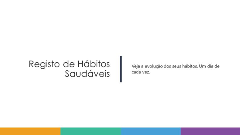 Registo de Hábitos Saudáveis