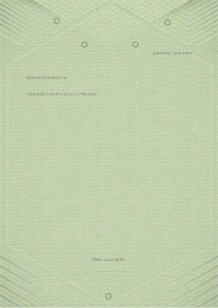 Modelo para cartas pessoais (design verde-acinzentado elegante)