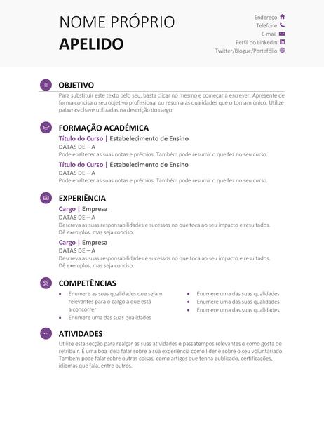 Currículo Académico (Design Moderno)