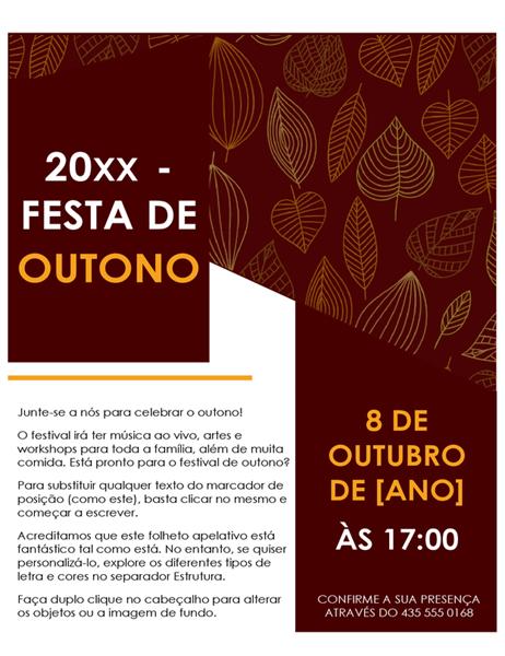 Panfleto de festival de outono