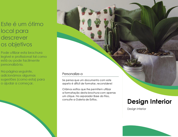 Brochura de design de interiores