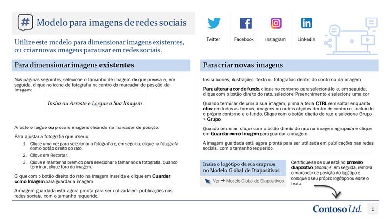 Modelo para imagens de redes sociais