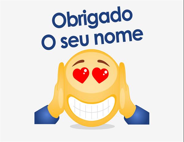 Cartão de agradecimento com emoji