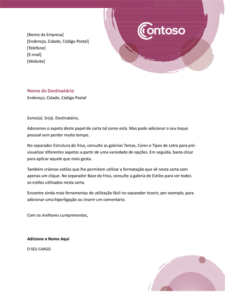 Papel Timbrado Suite Rosa