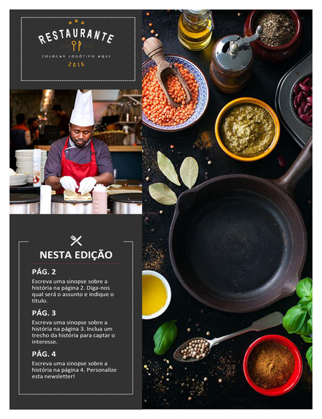 Newsletter do restaurante