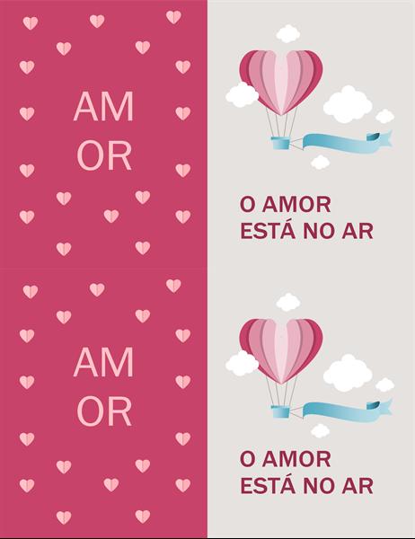 Cartão de Dia dos Namorados - O Amor Está no Ar