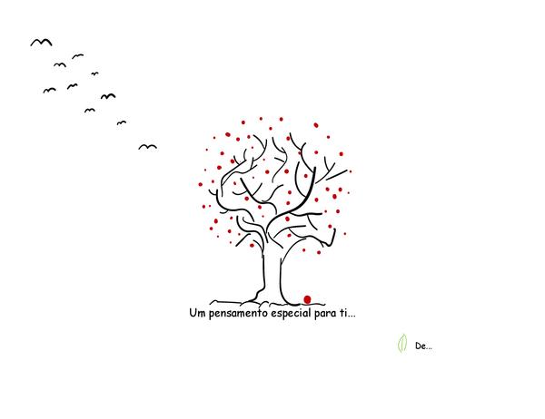 Cartão de condolências Árvore