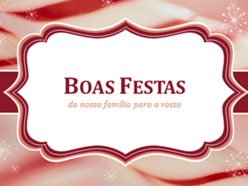 Cartões de Natal com doces em forma de bengala espiralada (2 por página)