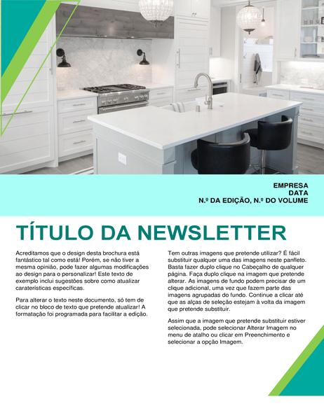 Newsletter de design de interiores