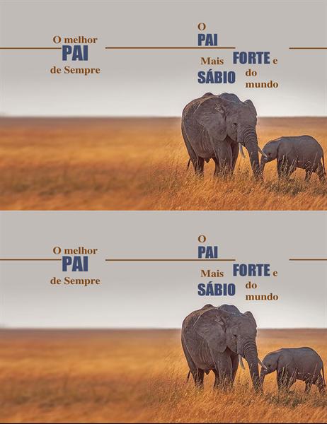 Cartão do Dia do Pai - Elefante sábio