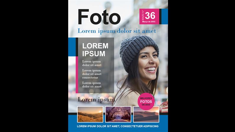 Capas para revista sobre fotografia