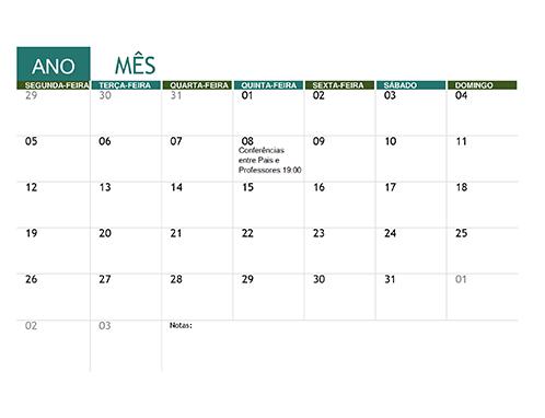 Calendário académico