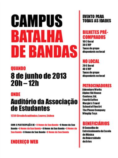 Panfleto de estudante (vermelho e preto)