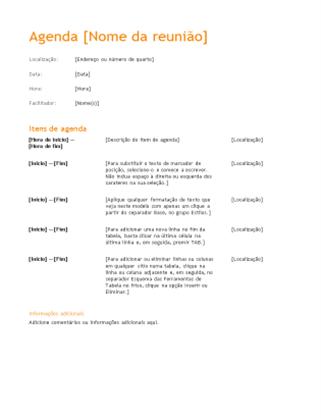 Agenda de reunião de negócios (Design cor de laranja)