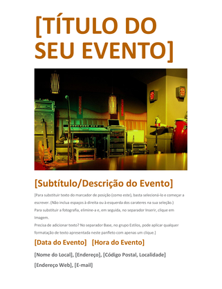 Panfleto de evento (cor de laranja)