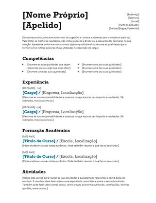 Currículo Equilibrado (Design Moderno)